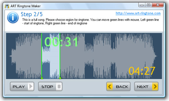ART Ringtone Maker Screenshot
