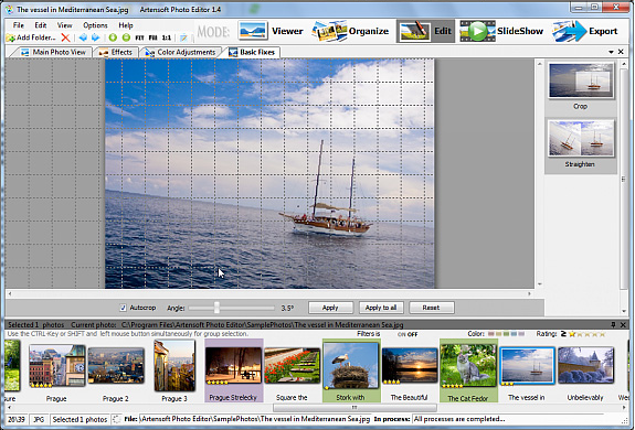 Artensoft Photo Editor, Design, Photo & Graphics Software Screenshot