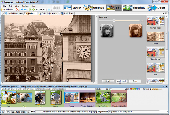 Design, Photo & Graphics Software, Artensoft Photo Editor Screenshot