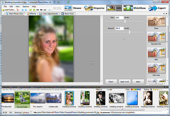 Artensoft Photo Editor, Design, Photo & Graphics Software, Batch Image Software Screenshot