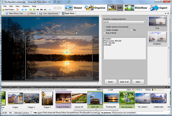 Artensoft Photo Editor, Batch Image Software Screenshot