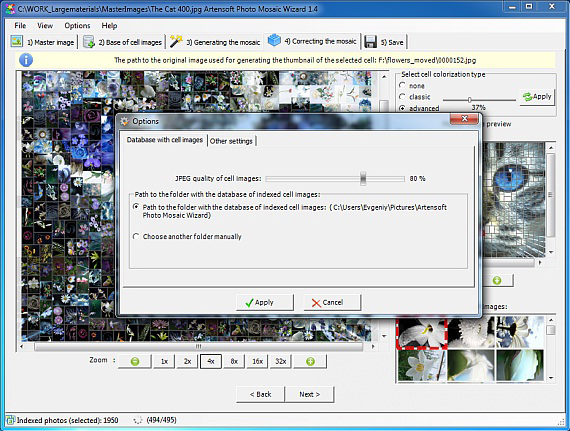 Artensoft Photo Mosaic Wizard Screenshot 9