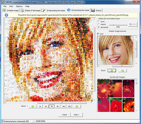 Artensoft Photo Mosaic Wizard, Graphic Design Software Screenshot