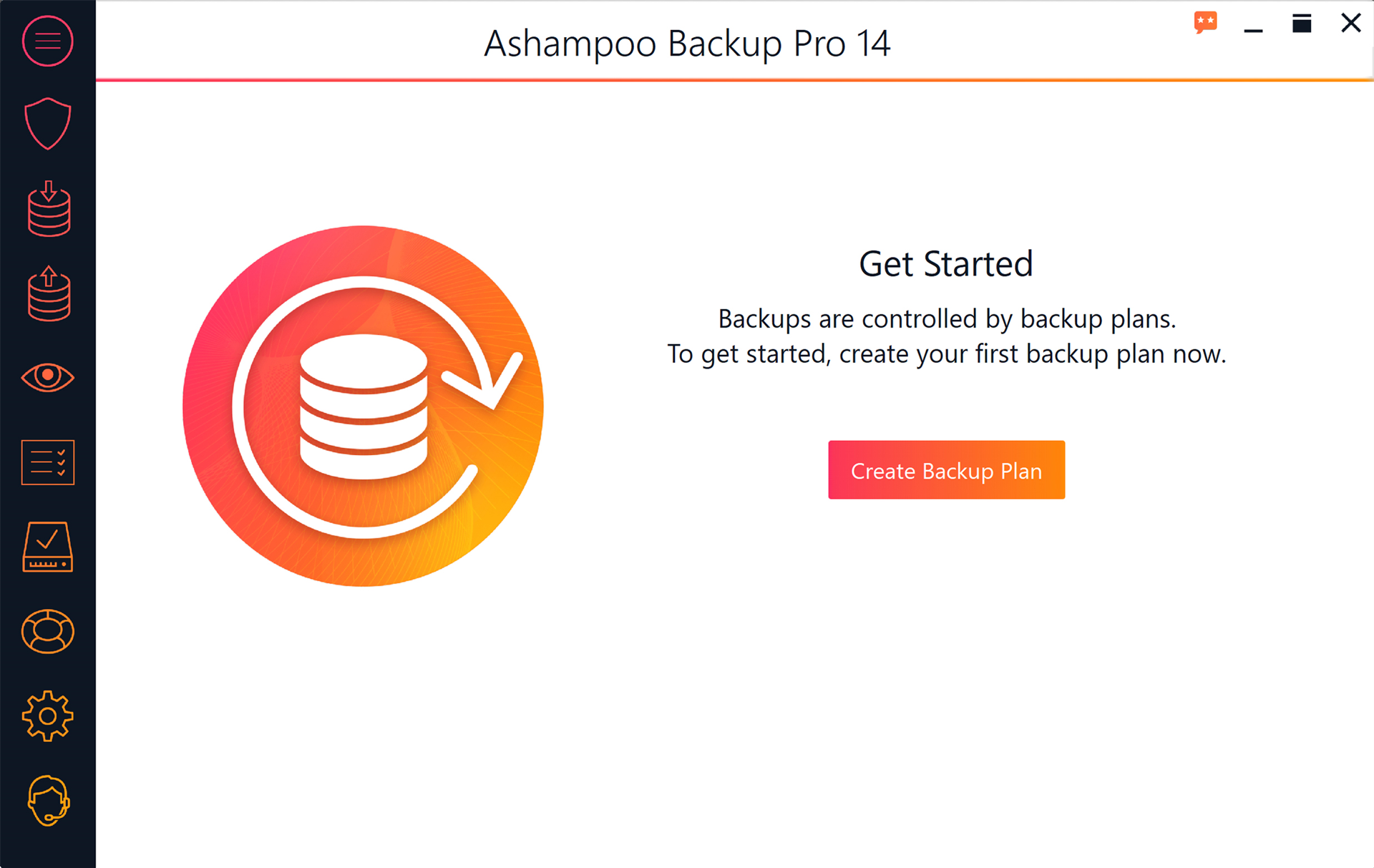 Ashampoo Backup Pro Screenshot