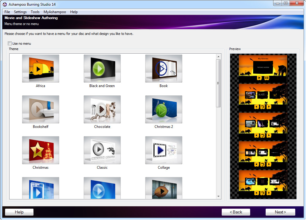 Ashampoo Burning Studio 14, Recording Studio Software Screenshot