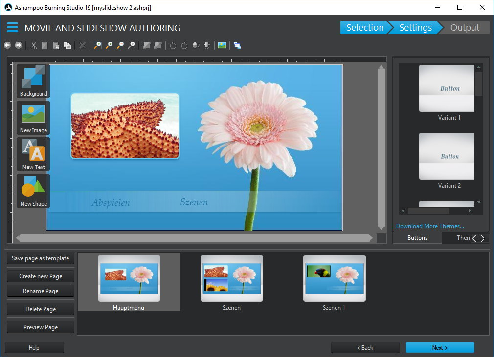 Video Software, Ashampoo Burning Studio Screenshot