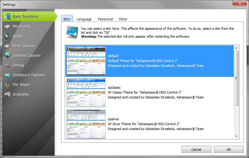 Software Utilities, System Stability Software Screenshot