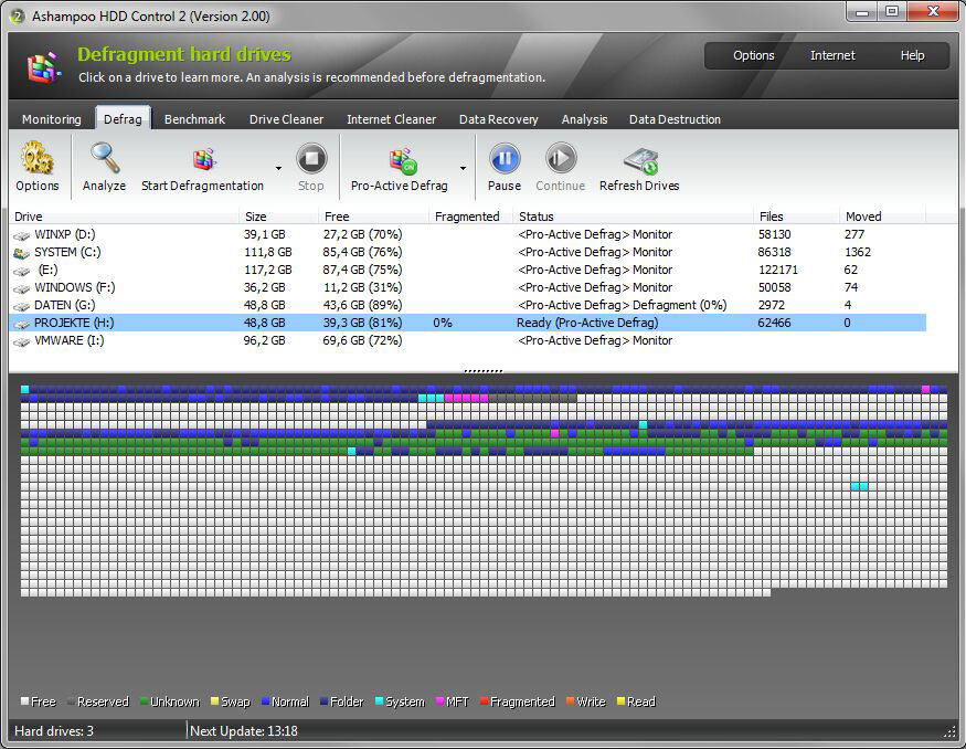 Ashampoo HDD Control, Software Utilities Screenshot