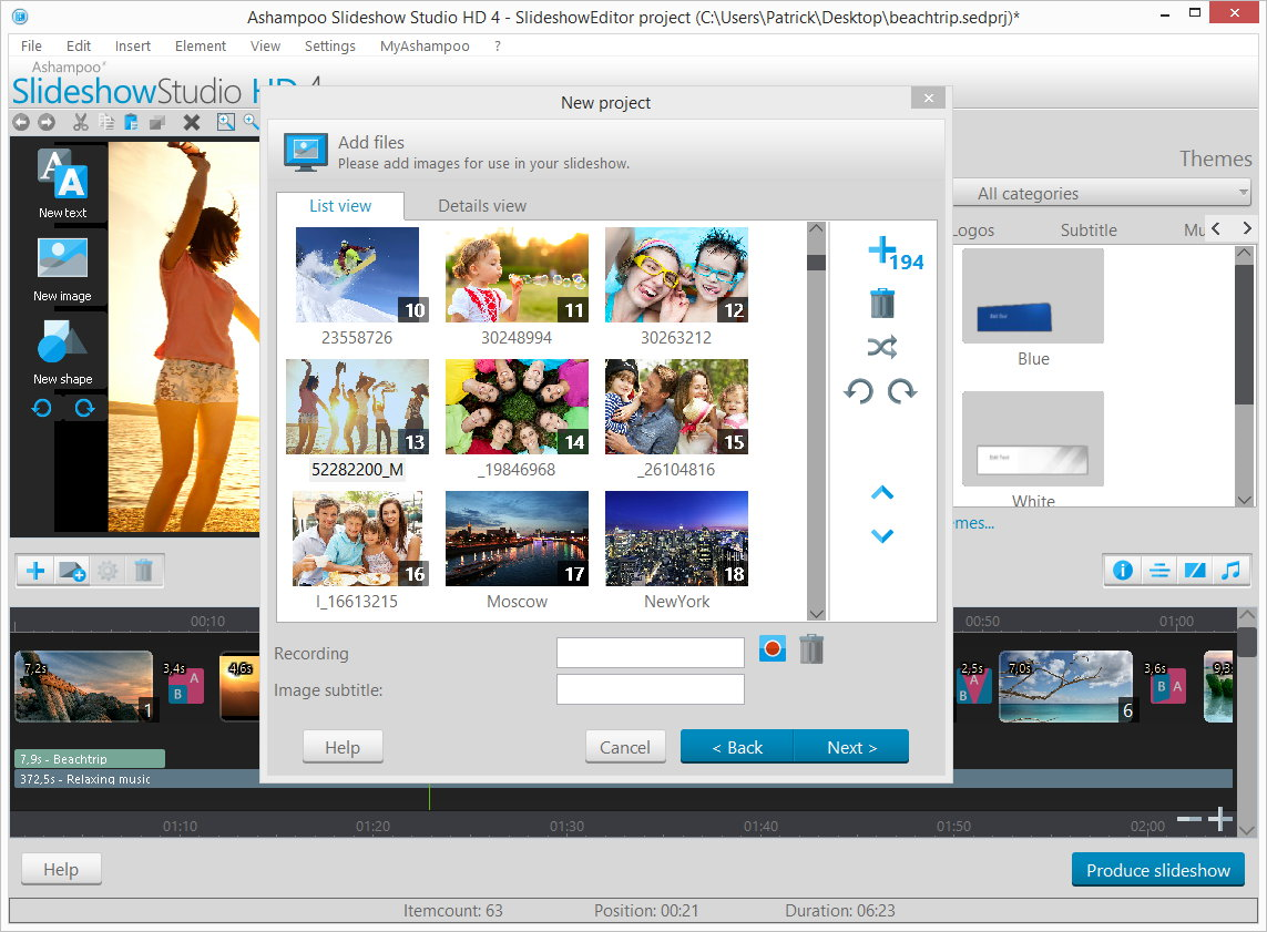 Design, Photo & Graphics Software, Slideshow Software Screenshot