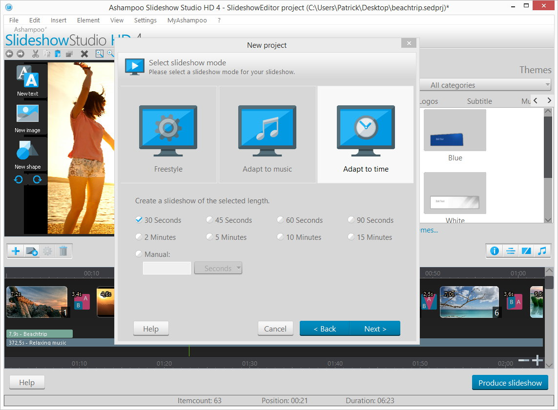Slideshow Software, Ashampoo Slideshow Studio HD 4 Screenshot