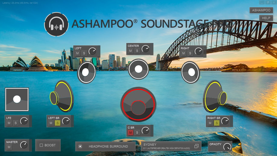 Ashampoo Soundstage Pro, Audio Software Screenshot