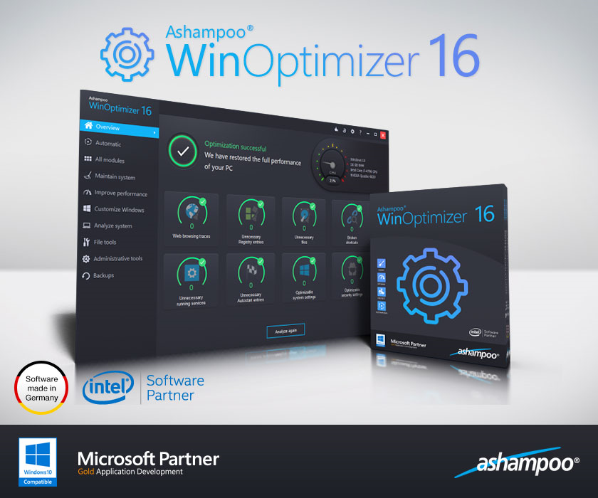 Ashampoo WinOptimizer Screenshot