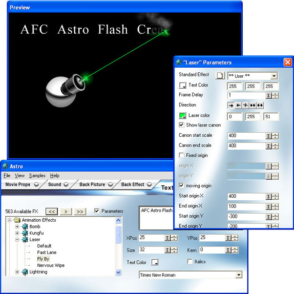 Development Software, ASTRO Flash Creator 2.0 Screenshot