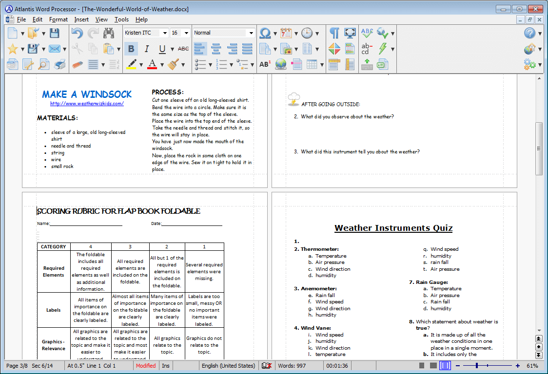 Atlantis Word Processor, Business & Finance Software, Word Processing Software Screenshot