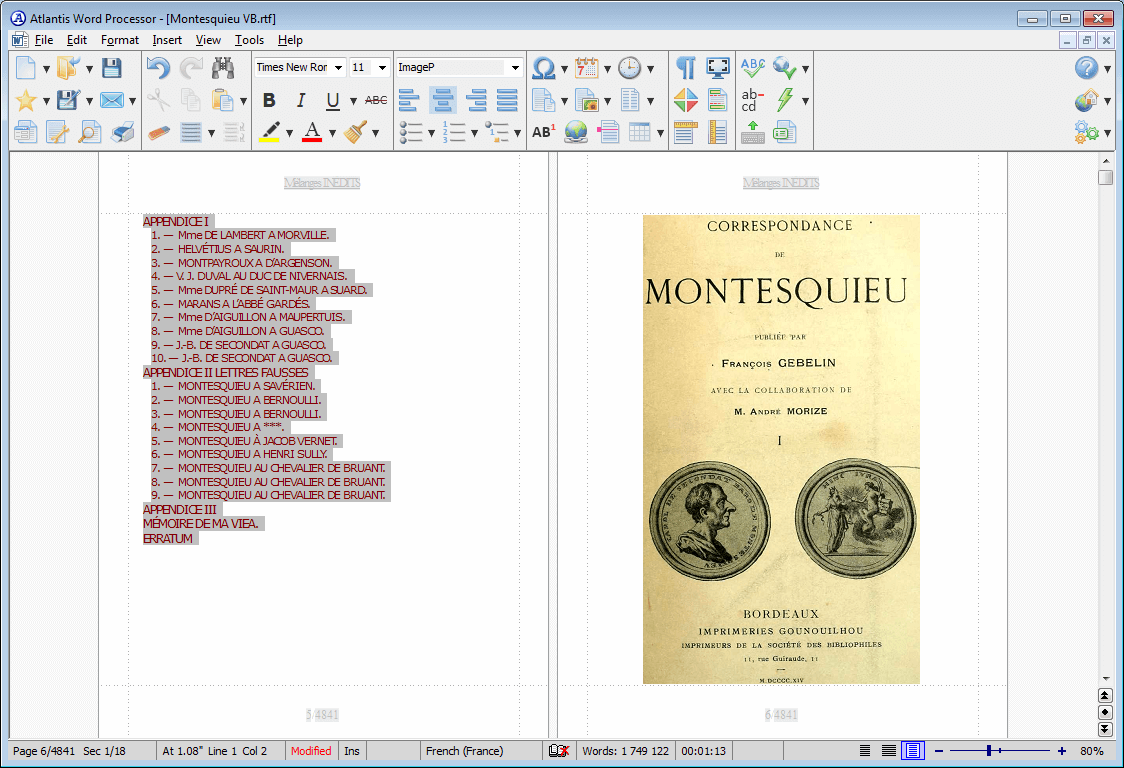 Word Processing Software, Atlantis Word Processor Screenshot