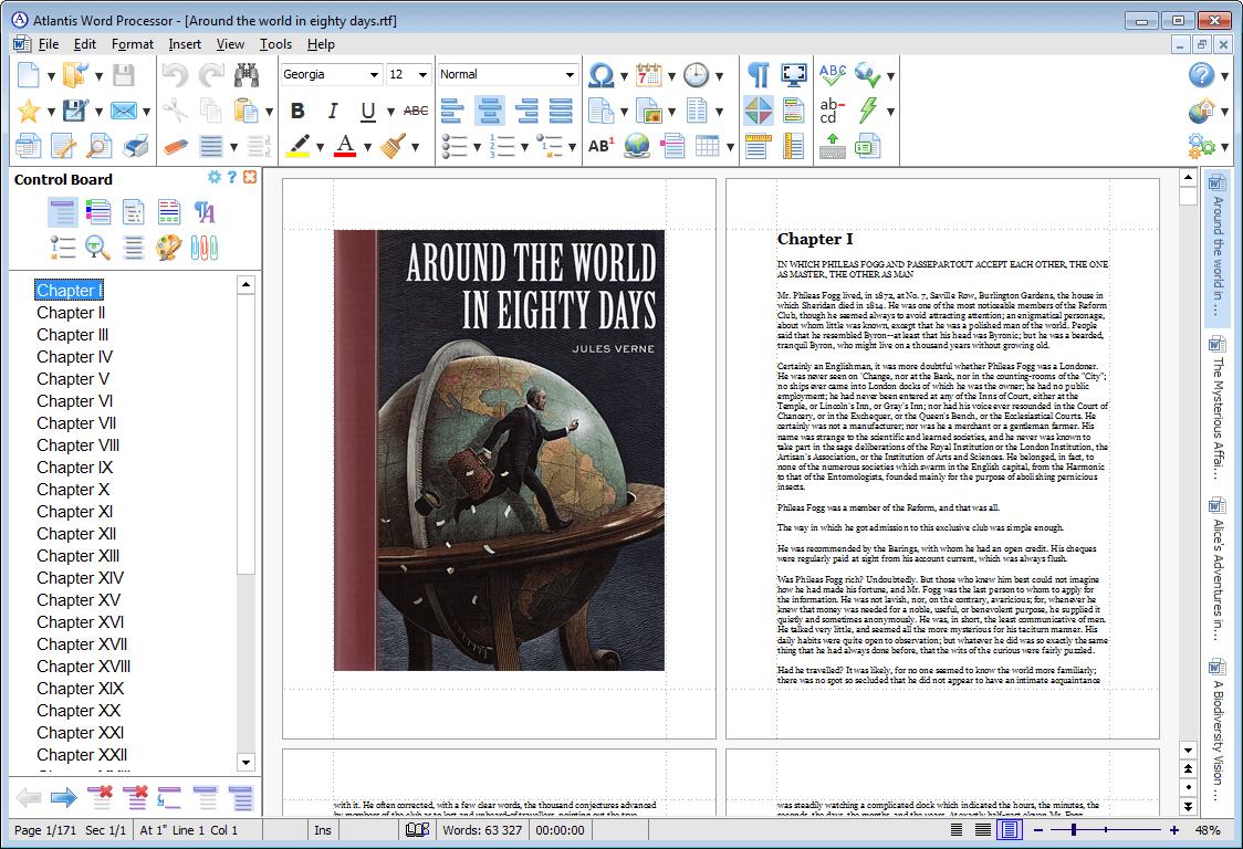 Atlantis Word Processor, Business & Finance Software Screenshot