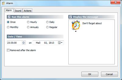 Atomic Alarm Clock, Desktop Customization Software Screenshot
