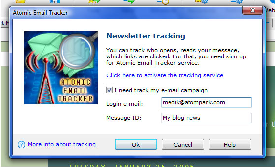 Internet Software, Bulk Mailer Software Screenshot