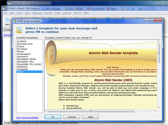 Bulk Mailer Software Screenshot