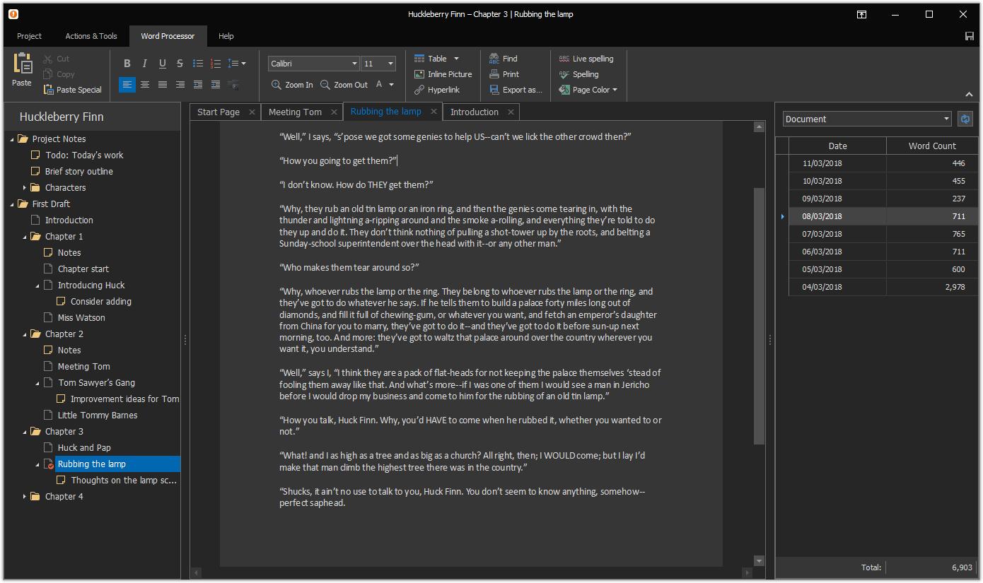 Atomic Scribbler, Writing and Journaling Software Screenshot