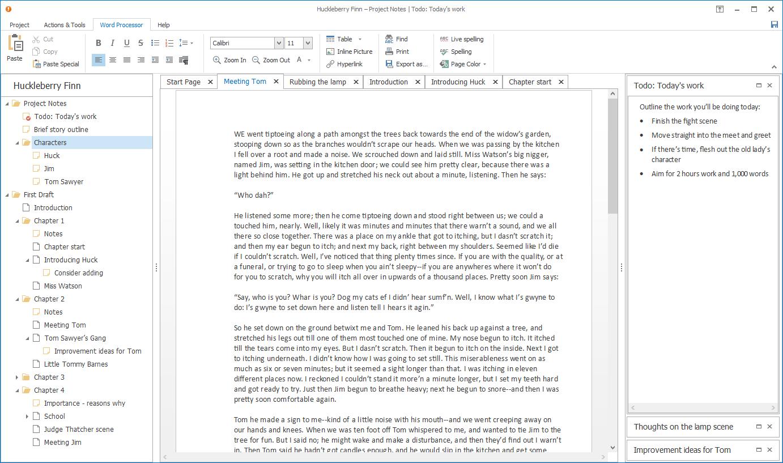 Writing and Journaling Software, Atomic Scribbler Screenshot