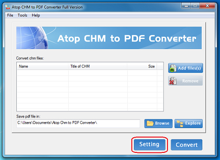 Atop CHM to PDF Converter - Word Processing Software for