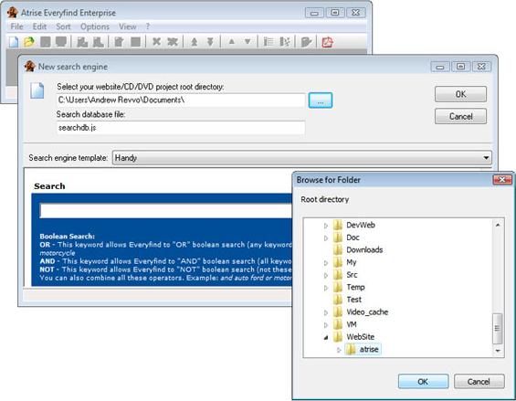 Atrise Everyfind Enterprise, HTML Widget Software Screenshot