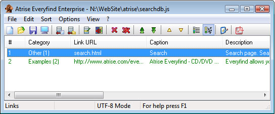 HTML Widget Software, Atrise Everyfind Enterprise Screenshot