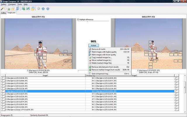 Audio Comparer + Image Comparer Bundle, Software Utilities, Duplicate Files Software Screenshot