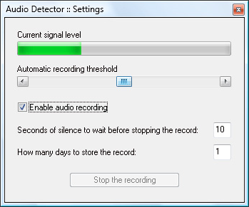 Audio Detector Screenshot