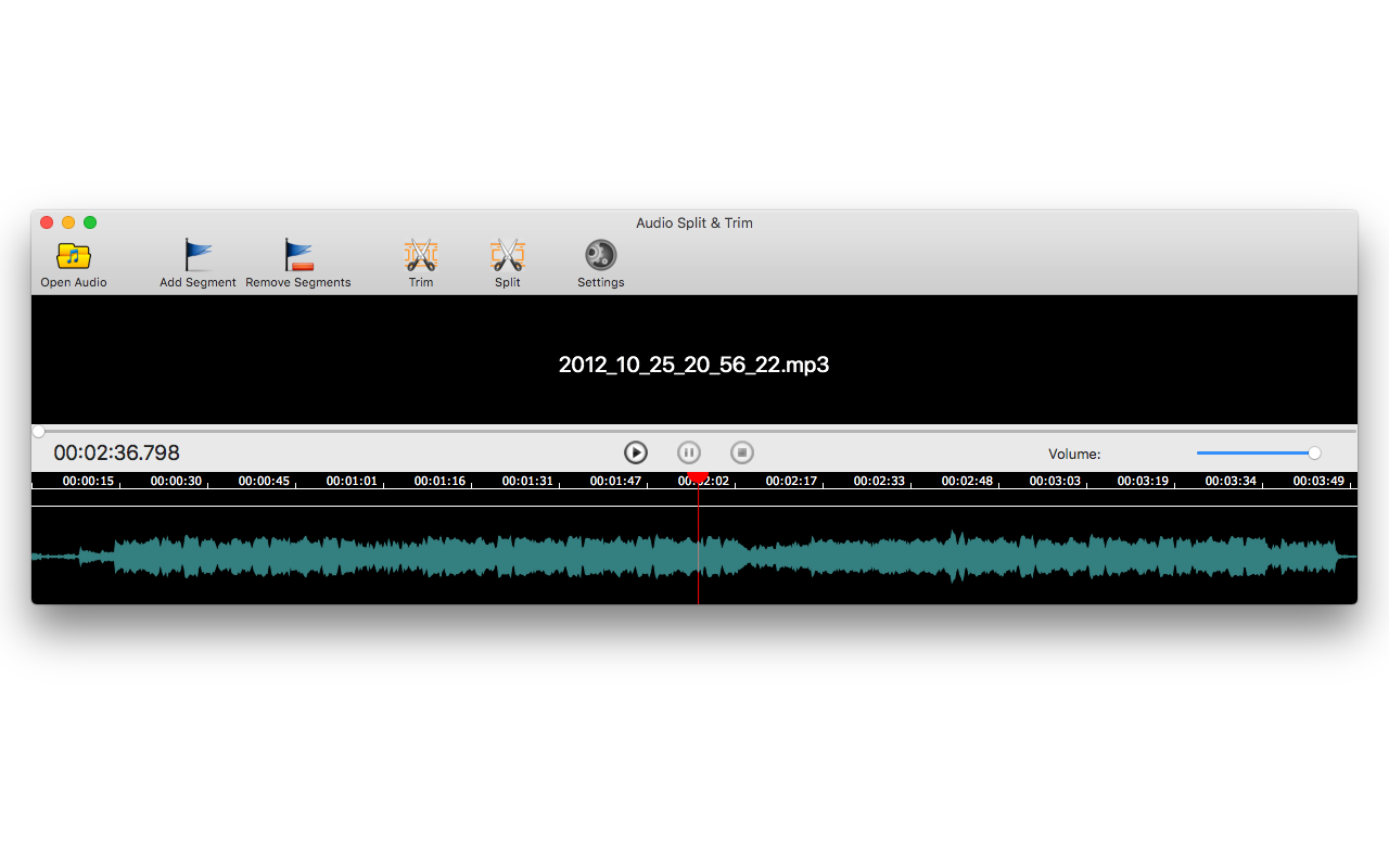 Audio Split & Trim, Audio Conversion Software Screenshot