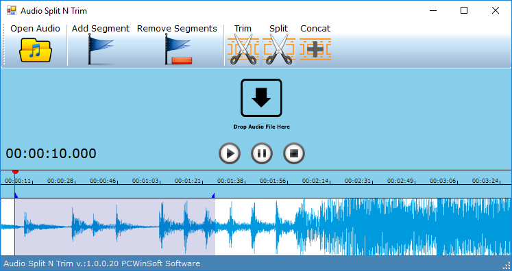 Audio Split & Trim, Audio Software, Audio Conversion Software Screenshot