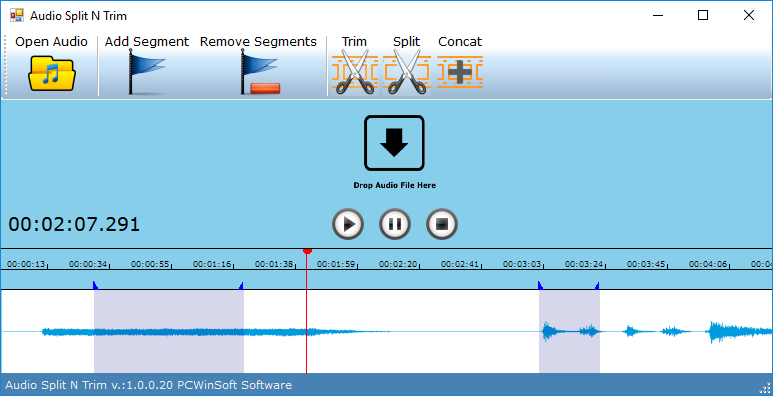 Audio Software, Audio Split & Trim Screenshot