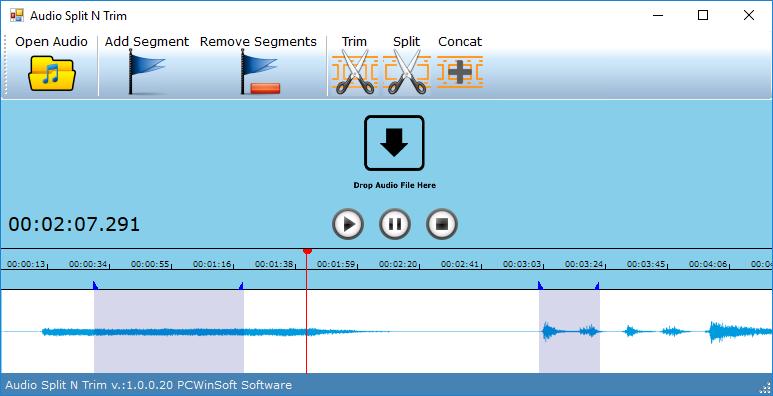 Audio Software, Audio Split & Trim Screenshot