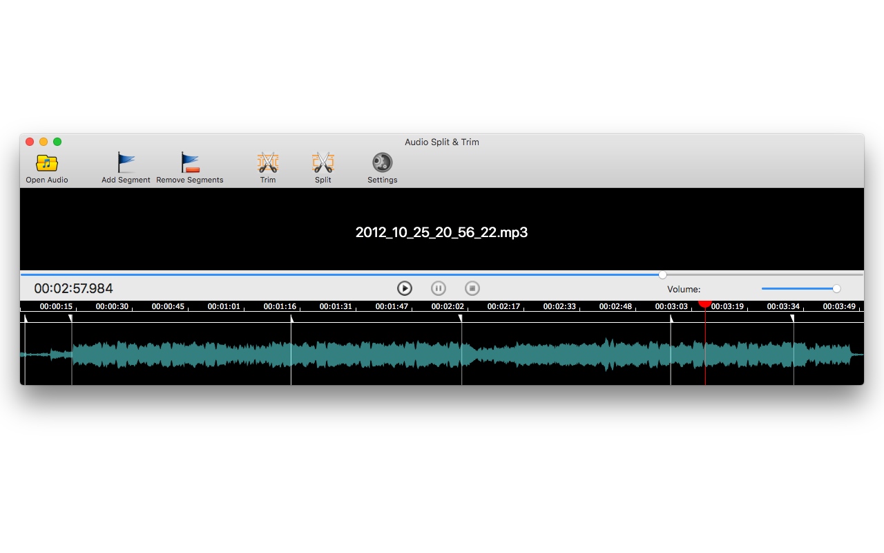 Audio Split & Trim, Audio Software Screenshot
