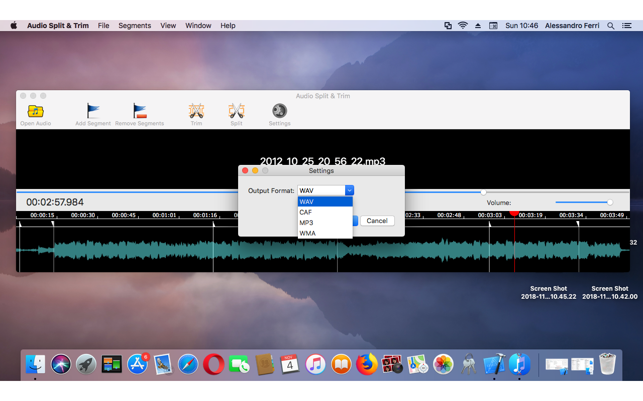 Audio Conversion Software, Audio Split & Trim Screenshot