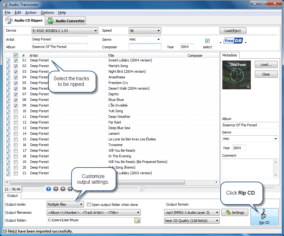Audio Transcoder Screenshot