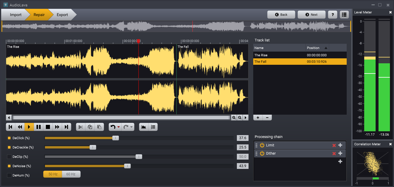 AudioLava Screenshot