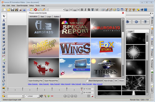 Animation Software, Aurora 3D Animation Maker Screenshot