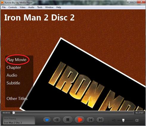 Aurora Blu-ray Media Player Screenshot