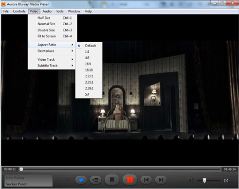 Aurora Blu-ray Media Player, Video Player Software Screenshot