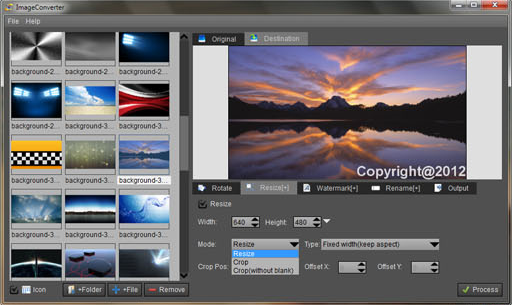 ImageConverterPro, Batch Image Software Screenshot