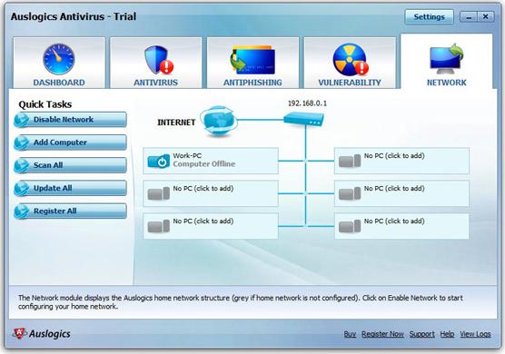 Antivirus Software, Auslogics Antivirus 2010 Screenshot