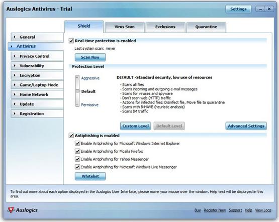 Auslogics Antivirus 2010 Screenshot
