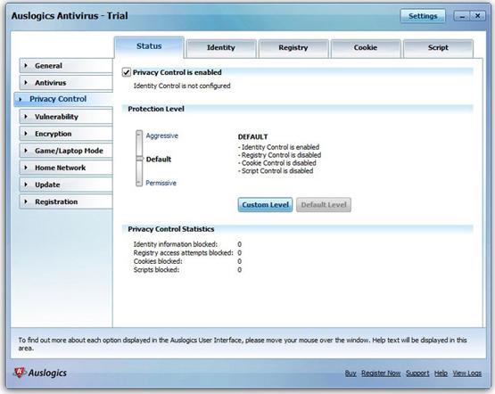 Auslogics Antivirus 2010, Antivirus Software Screenshot