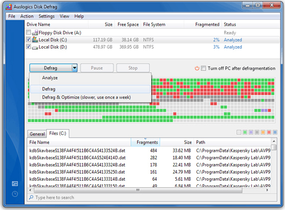 PC Optimization Software, Auslogics BoostSpeed v5 Screenshot