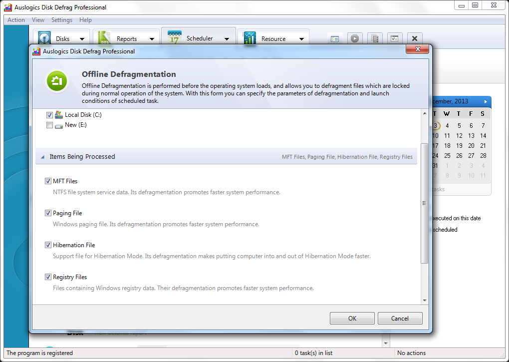 Software Utilities, Auslogics DiskDefrag Pro Screenshot