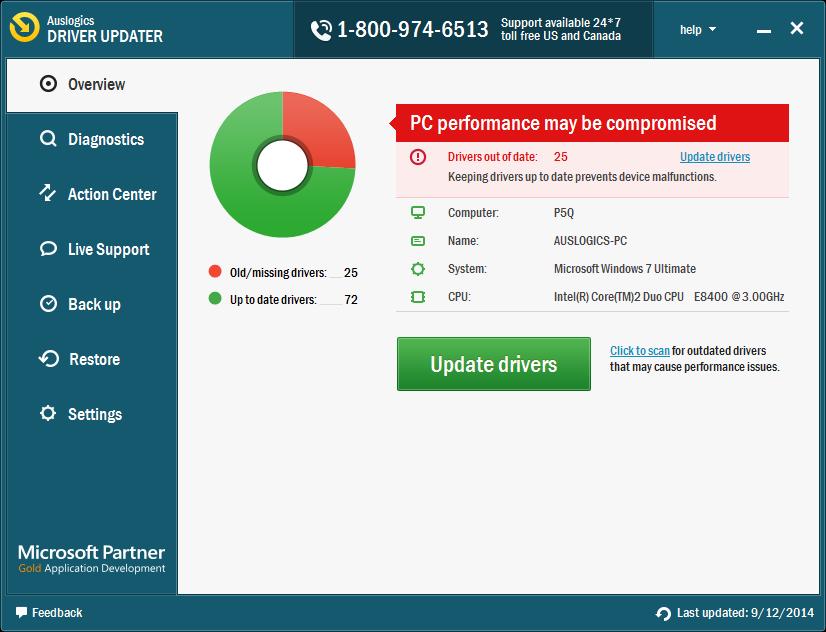 Auslogics DriverUpdater Screenshot