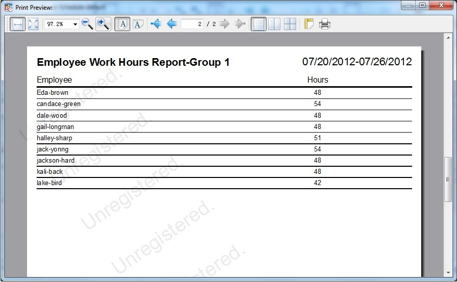 Auto Employee Schedule, Business & Finance Software, Business Management Software Screenshot