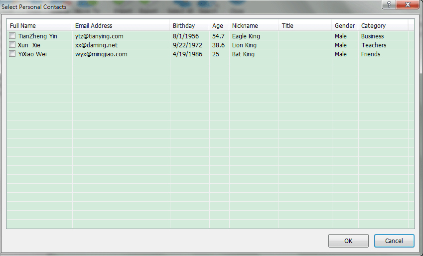 Internet Software, Auto Mail Sender Birthday Edition Screenshot